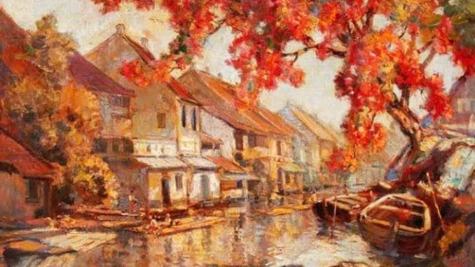 Lukisan Erenst Dezentje Serba merah