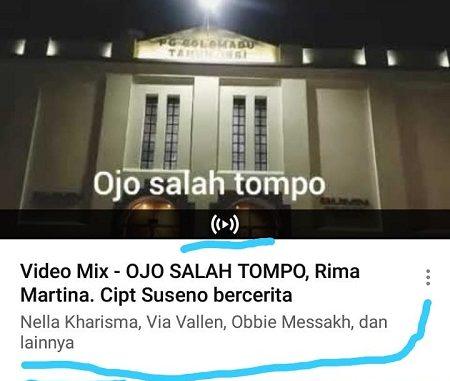 OJO SALAH TOMPO-MEMOHON DOA RESTU DARI SENIMAN SENIOR LAIN