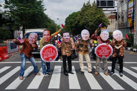 ENAM PRESIDEN DUNIA SAMBUT TAHUN BARU 2021 DI SOLO : Aksi Unik Dari Republik Aeng-Aeng Solo…